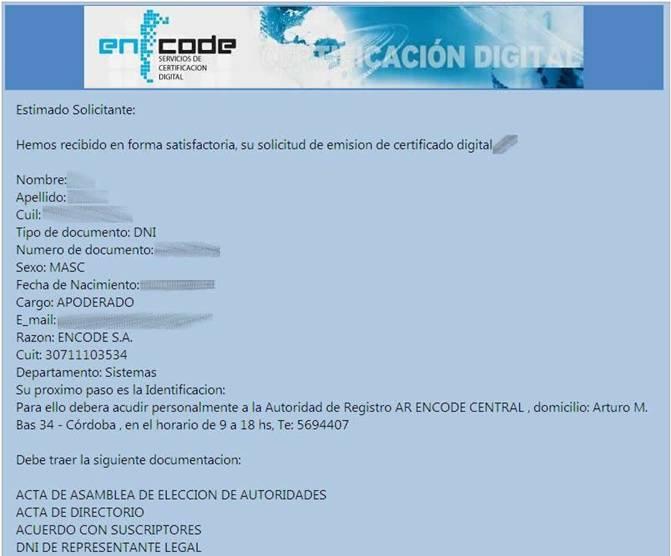 Procedimiento para la Petición de Solicitud del Certificado DIGITAL
